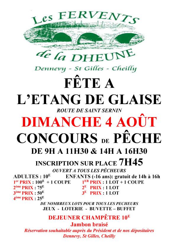 Concours à l'étang de Glaise de Dennevy 71
