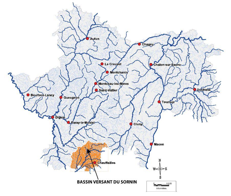 Localisation bassin du Sornin