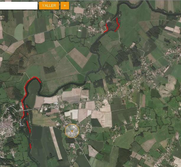 Cartographie des lieux d'alevinage brochets