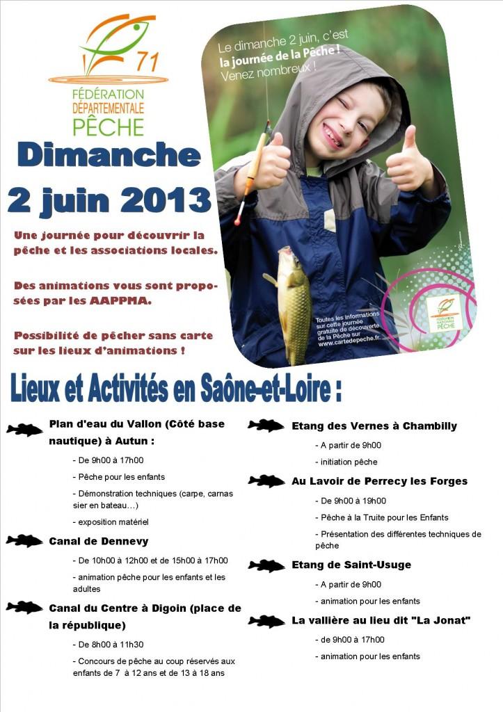 Journée Nationale Pêche 2013 Saône-et-Loire