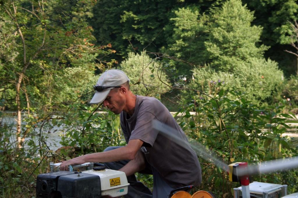 Pêche électrique sur la Loue dans le département du Doubs (Juillet 2013)