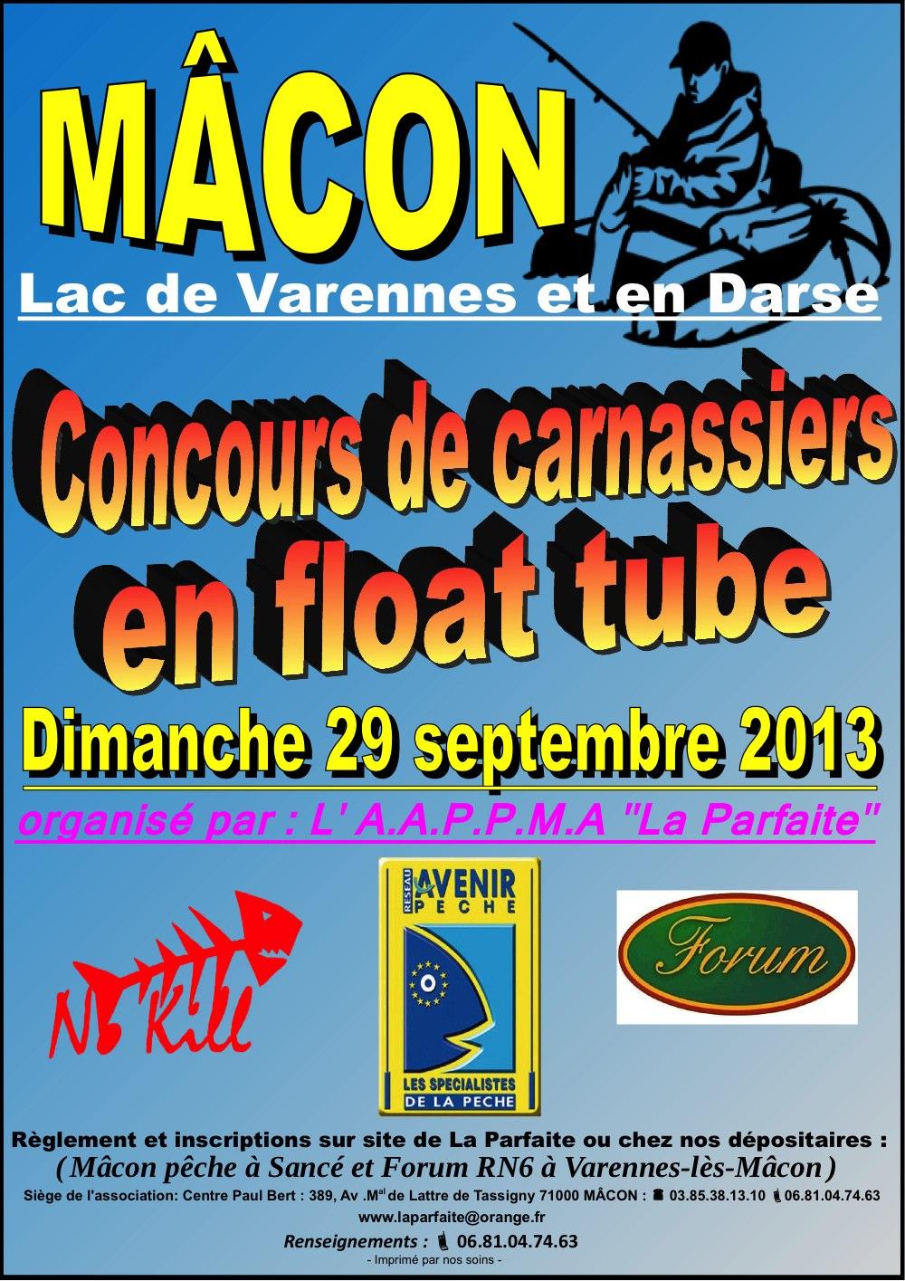 affiche concours float tube Mâcon